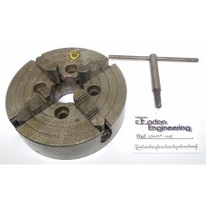 """Bison 4 Jaw Chuck 6""""/150mm, 4304-160. With chuck key."""