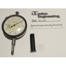 Mercer Plunger Type Metric Dial Test Indicator DTI, 0.01mm resolution