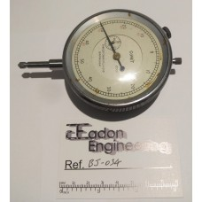 "Comet Plunger Type Imperial Dial Test Indicator DTI, 0.0001"" Resolution. 3"" OD."
