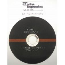 "FAG 403022/4 13A60 QU4B400 DSA 222 Cut off Slitting Elastic Wheel. 7"" OD x 1/16"" Thick."