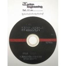 FAG 177x1.6x31.75 6742G2/5/1 13A60QU4B400 Cut off Slitting Elastic Wheel.