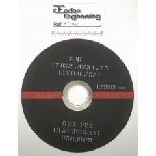 FAG 178x2.4x31.75 669040/5/1 DSA 222 13AG0P8B300 Cut off Slitting Elastic Wheel.
