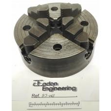 "4 Jaw Chuck 6"" diameter, The Pratt Chuck EZ917. 5"" mounting diameter."