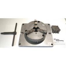 3 Jaw Pratt Burnerd Lathe Chuck Ø160mm on a plate for milling and drilling.