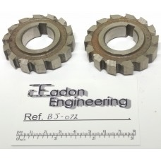 "Horizontal Milling Cutters approx OD Ø57mm x 10mm wide, Ø1"" bore. 2 off."