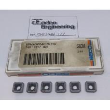 Seco SPMX0903AP-75 P40. Milling Insert x6.