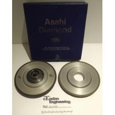 Asahi Triefus Diamond Wheel 91-3R/50/X7N 416539 & 91-3R-50-X7-N5MM D205254. 2off