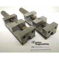 Matched pair of Precision Toolmakers Vices 75mm x 30mm deep x 97mm opening.